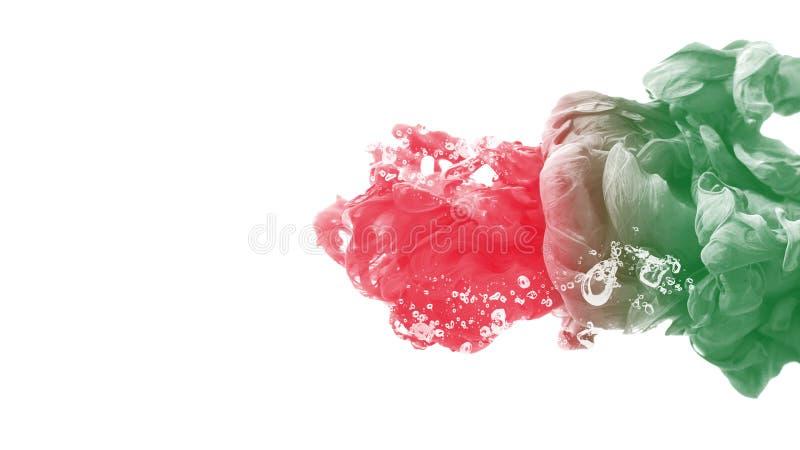 Stillhet för rörelse för abstrakt begrepp för bakgrund för färg för färgpulverdroppvatten idérik vektor illustrationer