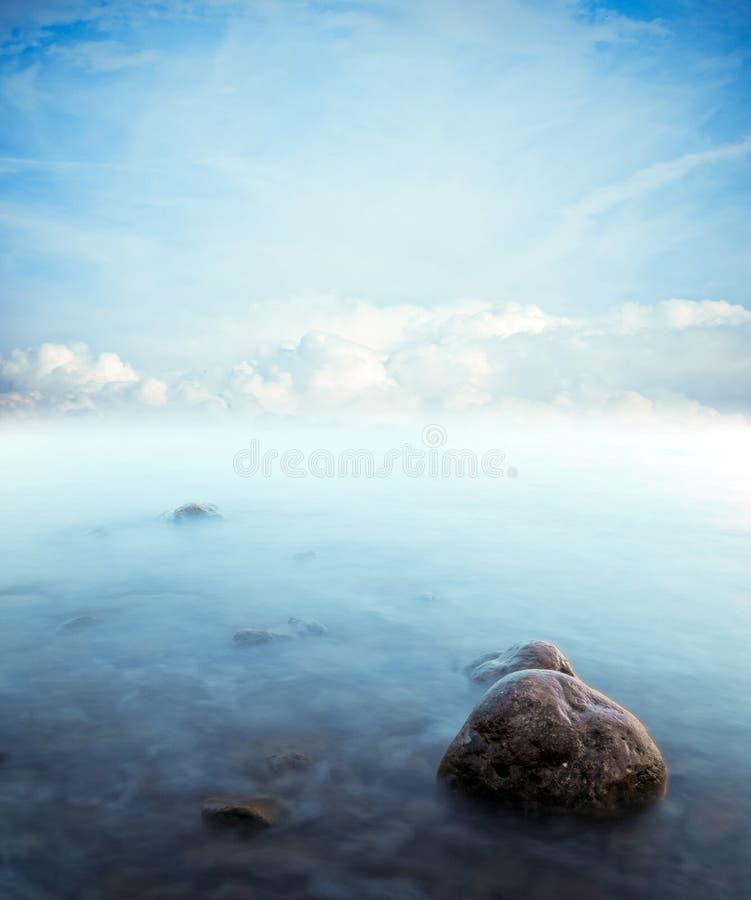 Stillhet på havet royaltyfri bild