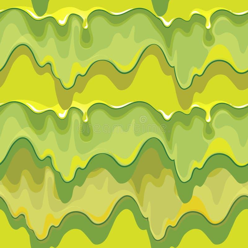 Stillicidio del modello senza cuciture di vettore verde della melma illustrazione vettoriale