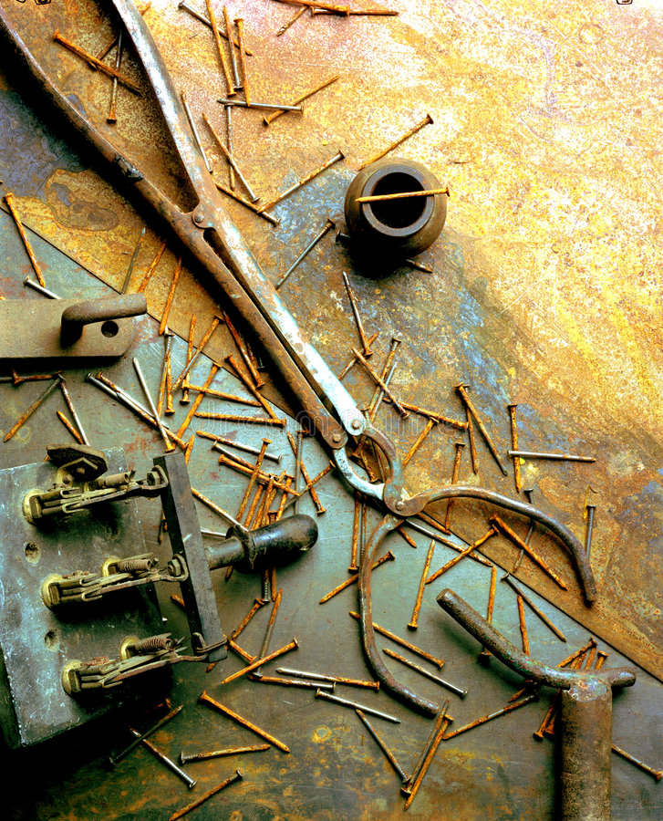 Free Stillife Of Old Rusty Tools Stock Images - 4166834