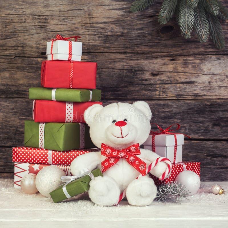 Stillleben der frohen Weihnachten stockfotografie