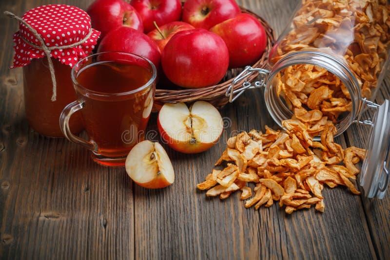 Stillleben des Apfels lizenzfreie stockbilder