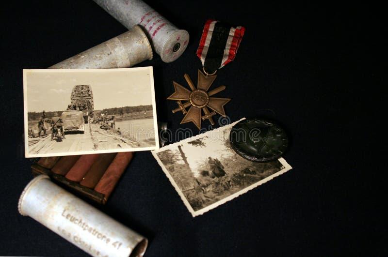 Stillleben eines Wehrmacht-Soldaten stockfoto