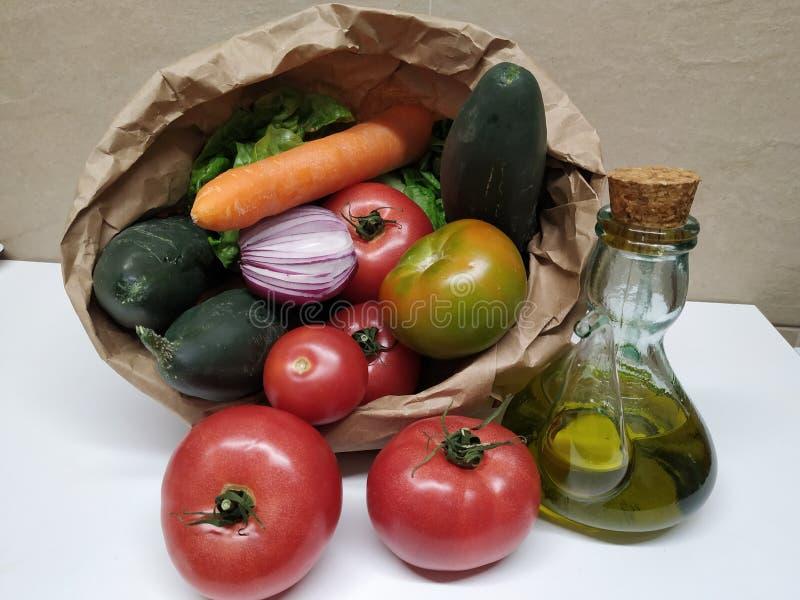 Stillleben mit Gemüse, gesunde Nahrung stockbild