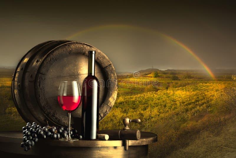 Stillleben mit Rotwein lizenzfreies stockfoto
