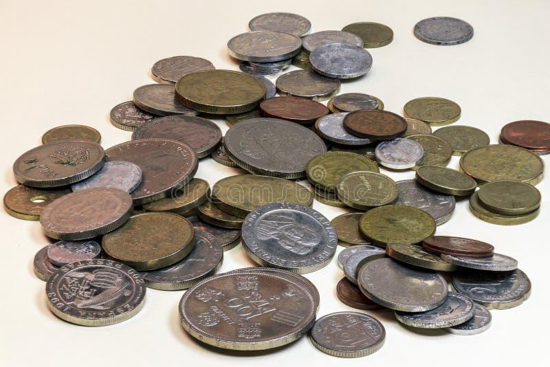 Stillleben von alten Münzen lizenzfreie stockbilder