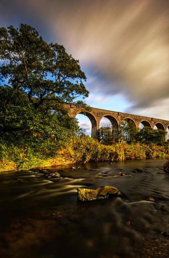 Stillness in the Wind. Even if all the elements are running around ... this strong viaduct shows stillness! Near Tassagh in County Armagh, Northern Ireland royalty free stock photos