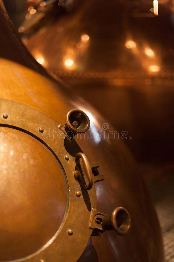 Stills. A close up of a Whiskey still royalty free stock photo