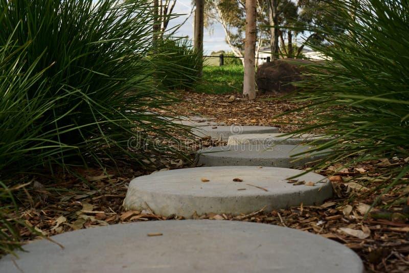 Stillsam fridsam stenbana arkivfoto