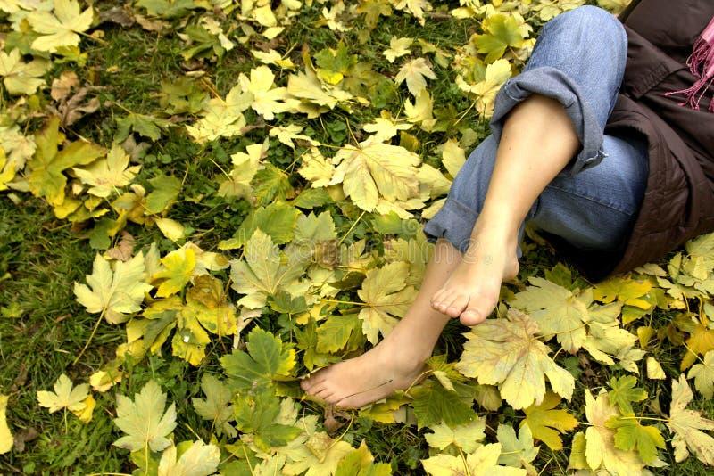 Stillstehende Füße stockfotografie
