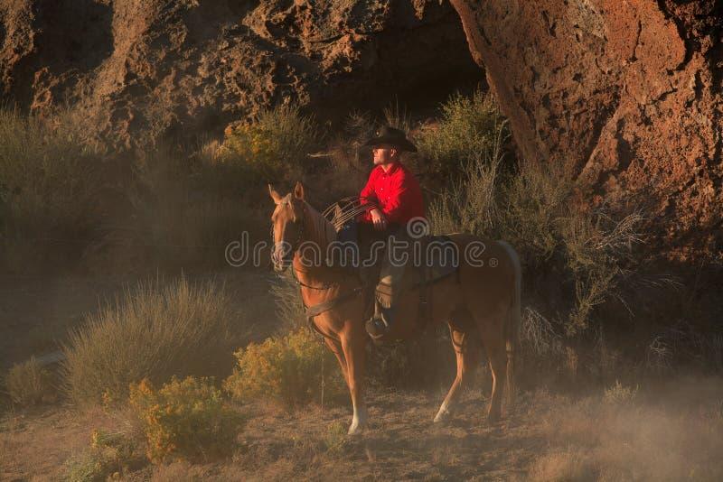 Stillstehender Cowboy stockfoto