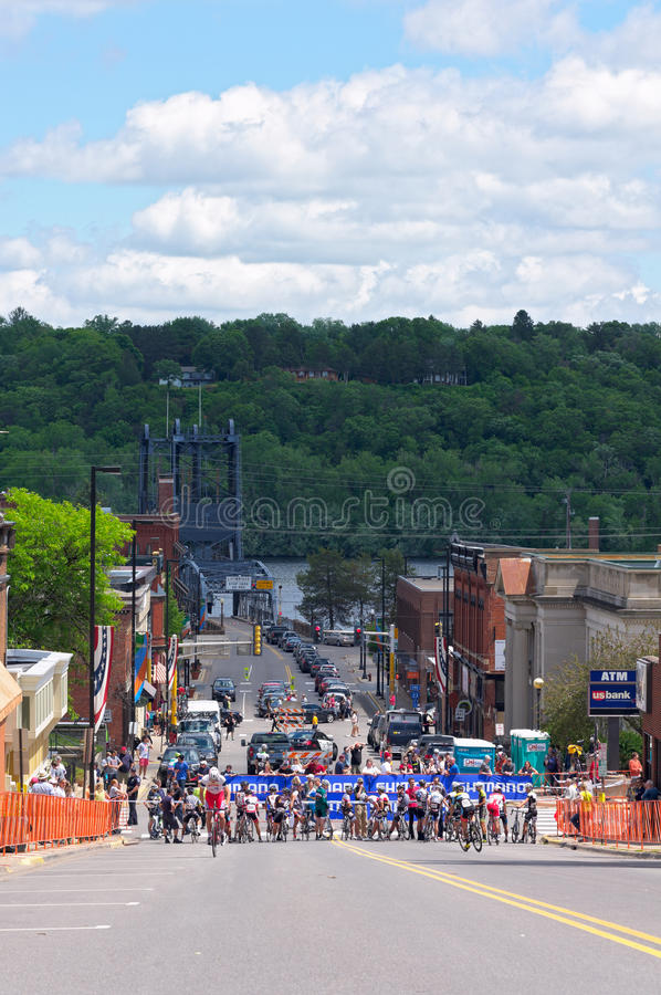 Stillwater Streets Before Race royalty free stock photo