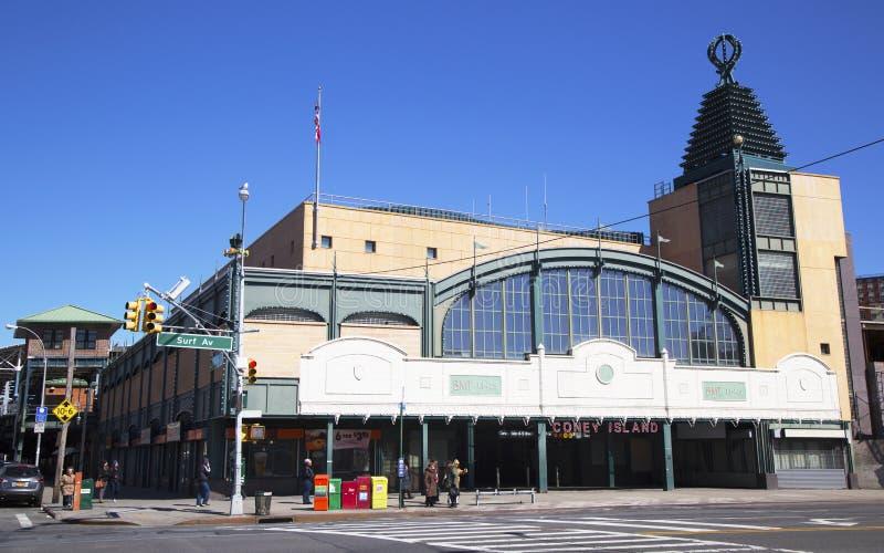 Stillwell alei stacja metru w Coney Island sekci Brooklyn zdjęcia royalty free