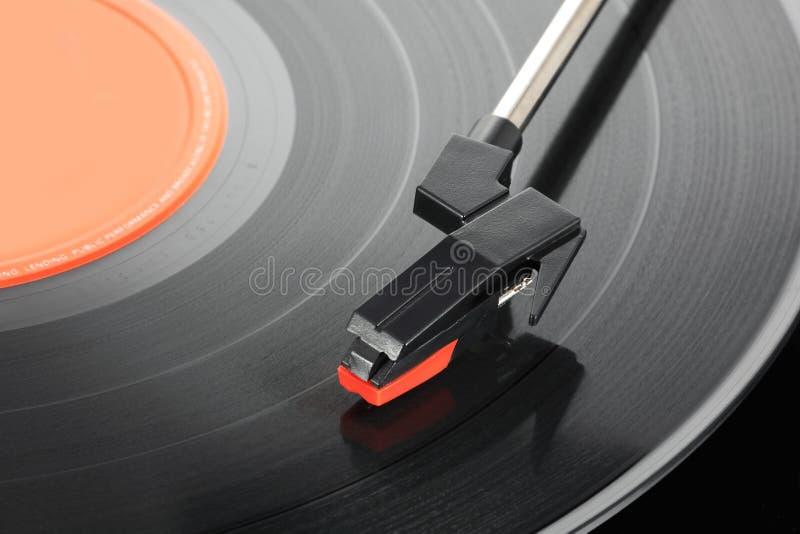 Stilo del giradischi con 33rpm vinile LP immagini stock libere da diritti