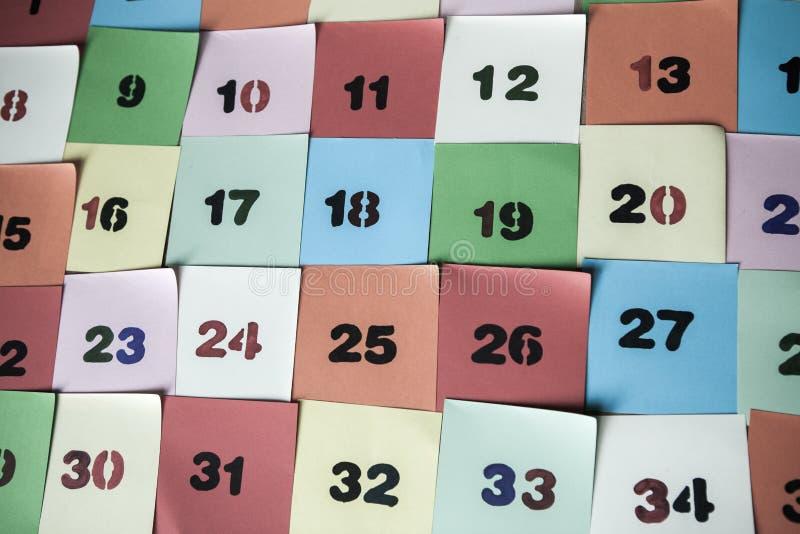 Stilsort av nummer Abstrakt bakgrund av färgnummer för kort eller tryck fotografering för bildbyråer