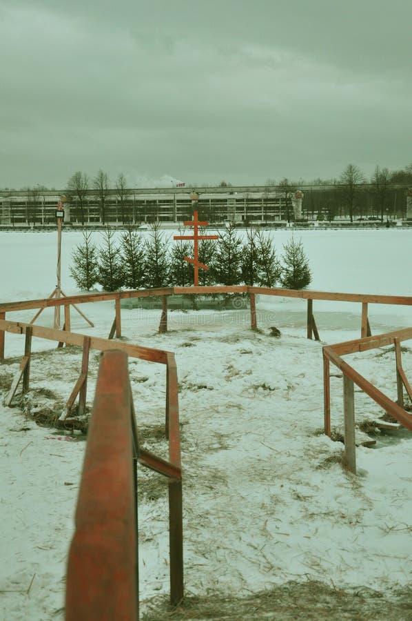 Stilsort för dop i sjön i staden royaltyfri fotografi