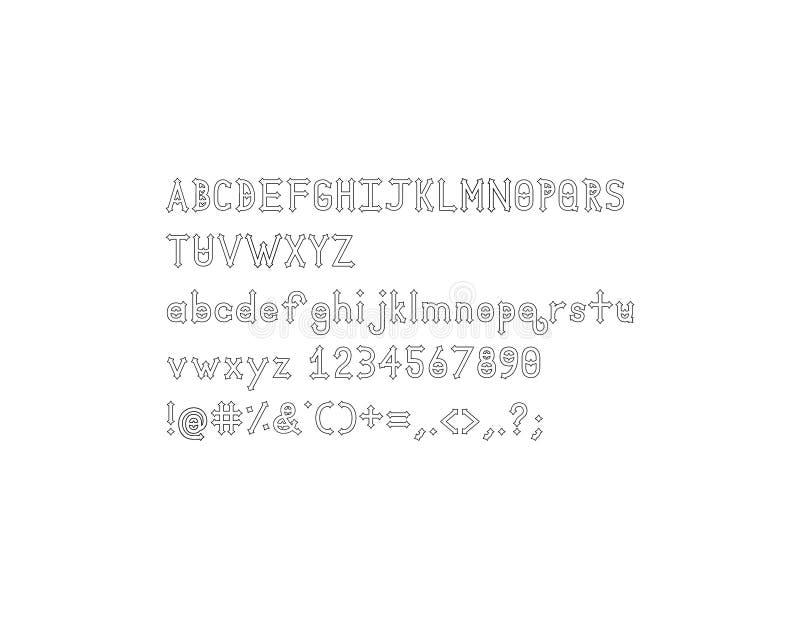 Stilsort för Dymond Speers översiktsalfabet arkivfoto
