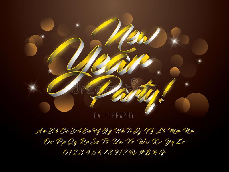 Stilsort för nytt år vektor illustrationer