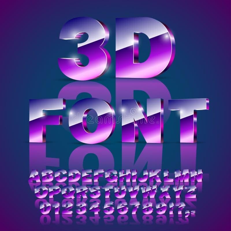 stilsort för violet 3d vektor illustrationer