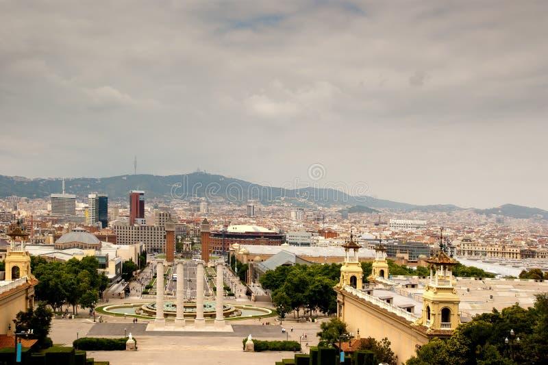 Stilsort Magica de Montjuïc och Barcelona arkivfoton