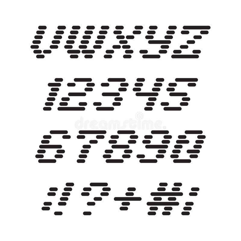 Stilsort och nummer från band stock illustrationer