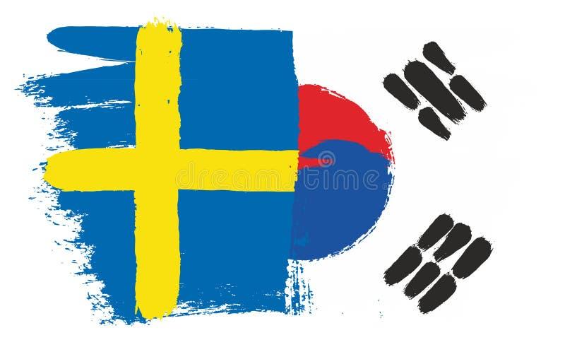 stilsweden för tillgänglig flagga glass vektor royaltyfri illustrationer