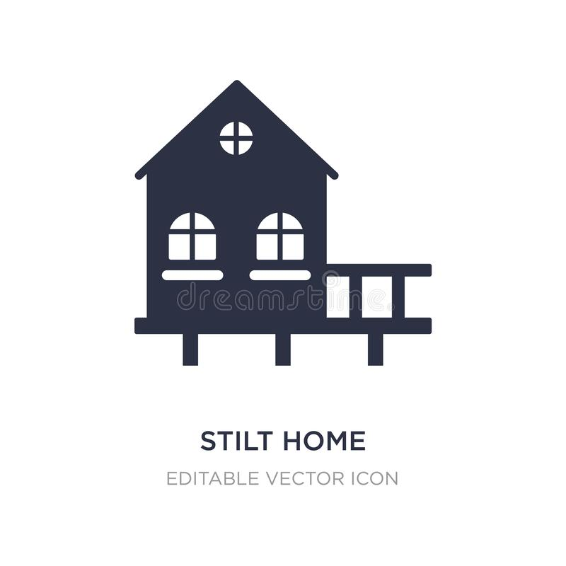 stilt home icon on white background. Simple element illustration from Buildings concept vector illustration