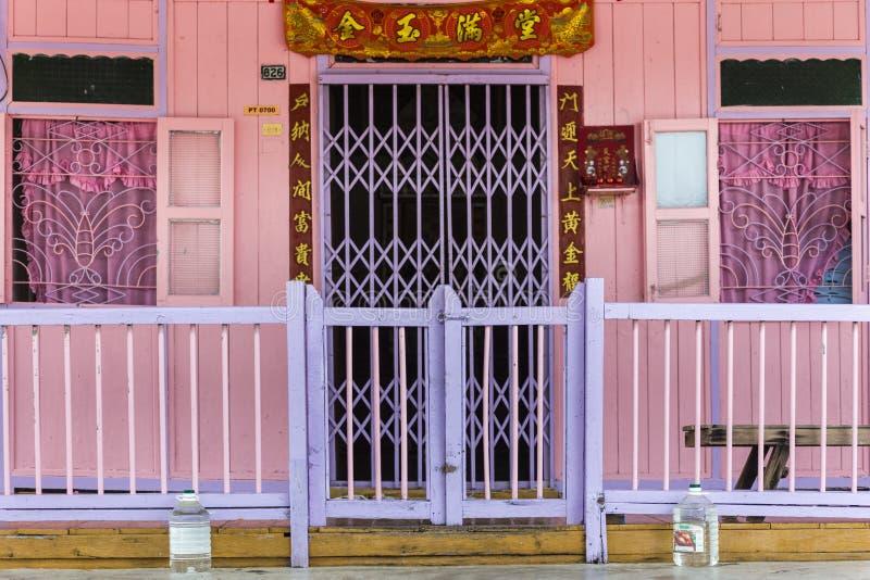 Stilt houses at chinese fishing village in Pulau Ketam near Klang Selangor Malaysia. Asia stock images