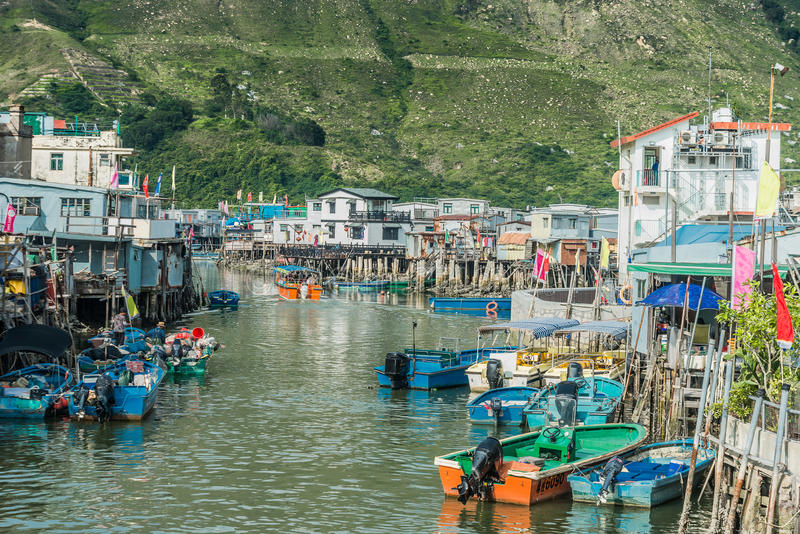Stilt houses Tai O Lantau island Hong Kong royalty free stock photos