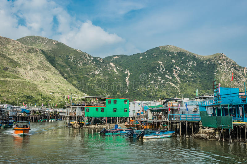 Stilt houses Tai O Lantau island Hong Kong stock photo