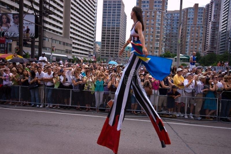 Download Stilt Walker editorial stock image. Image of crowd, police - 5684909
