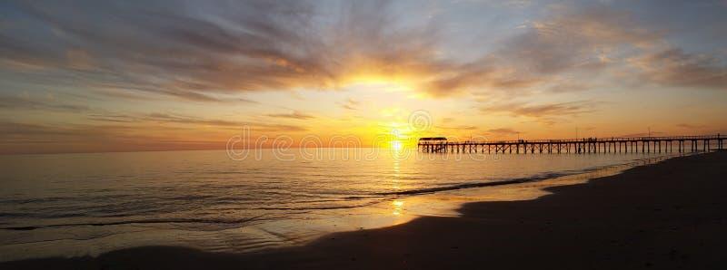 Stilte bij zonsondergang royalty-vrije stock afbeelding