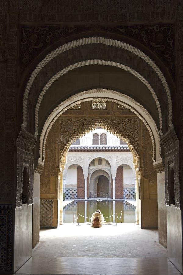 Download Stilte En Kalmte In Alhambra Stock Foto - Afbeelding bestaande uit oriëntatiepunt, marmer: 29506270