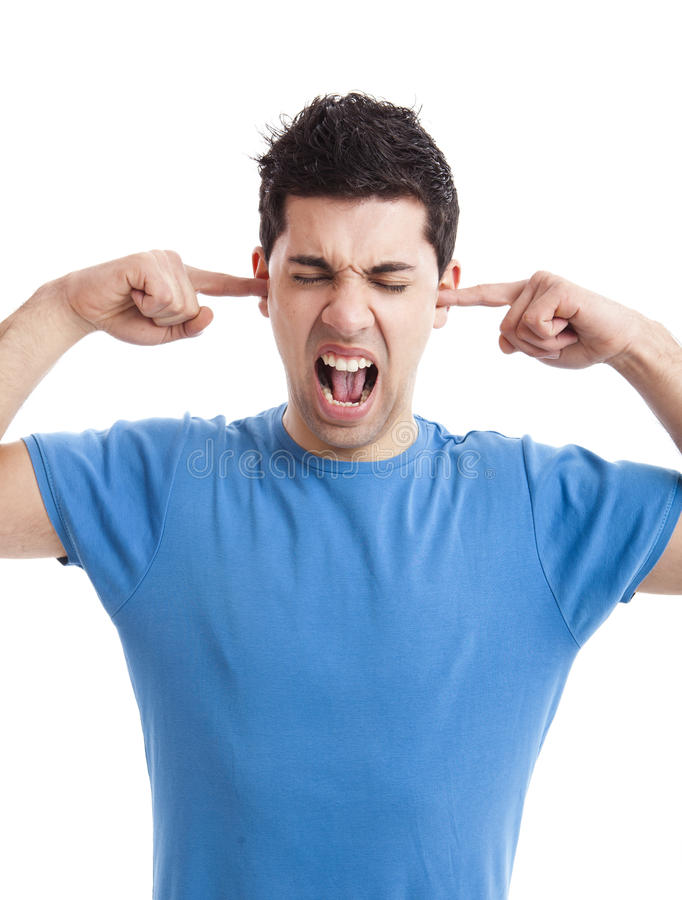 Stilte tevreden!!! stock fotografie