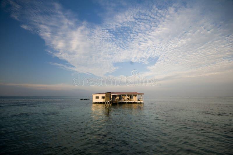 Stilts i Caraibi Nicaragua del ristorante fotografie stock