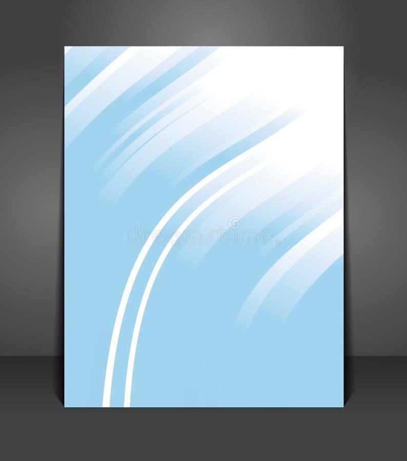 Stilvolle blaue Darstellung des Geschäftsplakats mit Streifen lizenzfreie abbildung