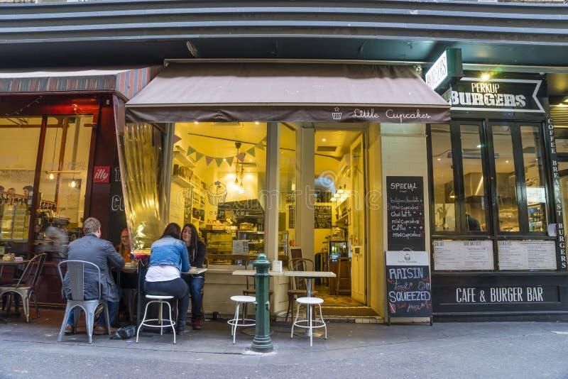 Stilvolle Cafés in Melbourne lizenzfreies stockfoto