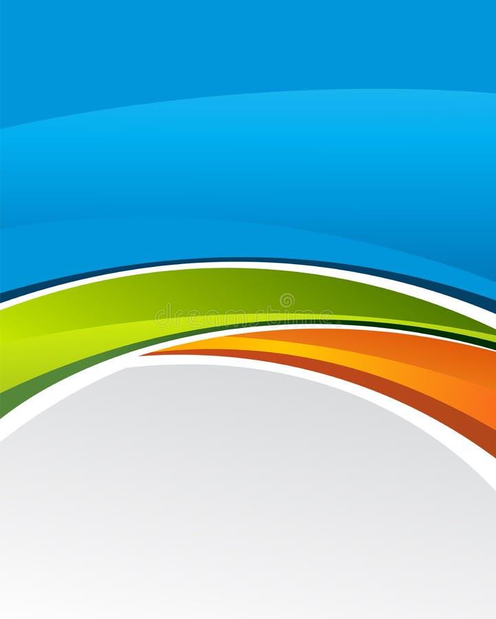 Stilvolle Darstellung des Geschäftsplakats, Titelseite, Schablone Abstrakte Abbildung vektor abbildung