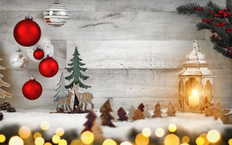 Stilvolle dekorative Weihnachtsanordnung stockfotos