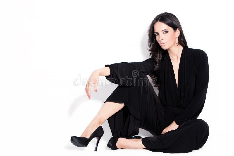 Stilvolle Frau stockbild