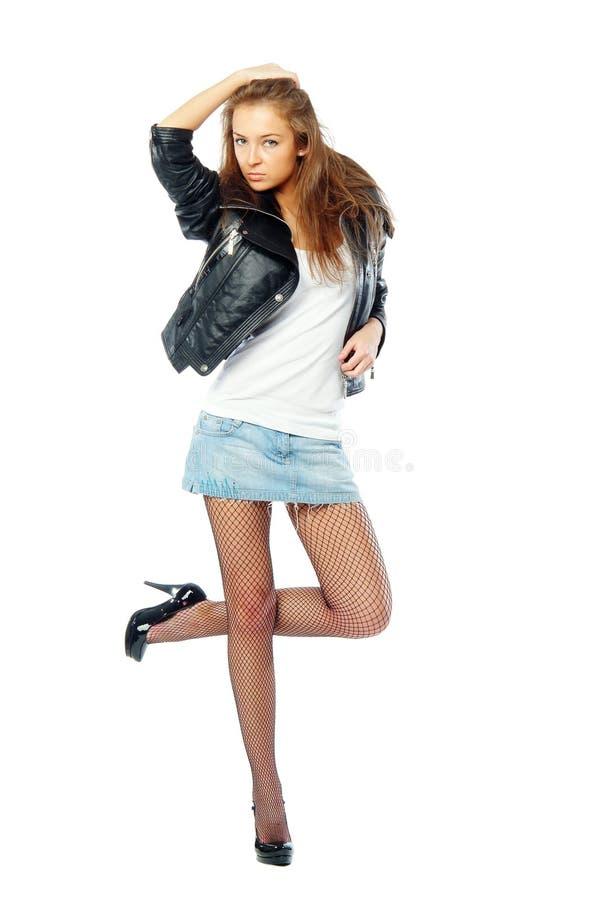 Download Stilvolle Frau stockfoto. Bild von reizend, abschluß, elegant - 9088922