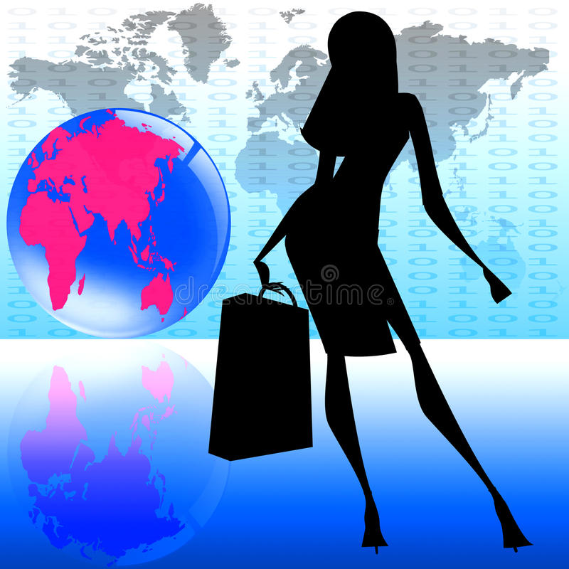 Stilvolle Frauenweltreise lizenzfreie stockfotografie