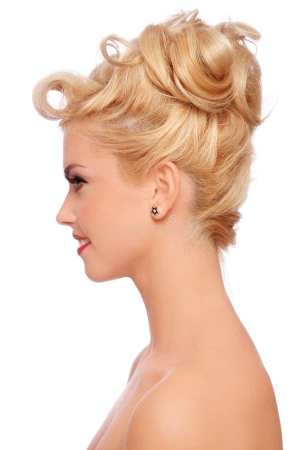 Stilvolle Frisur lizenzfreie stockfotografie