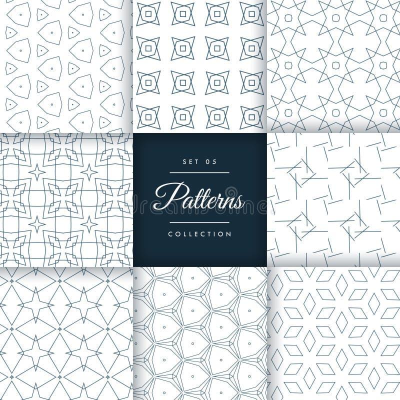 Stilvolle geometrische Muster stellten Sammlung ein lizenzfreie abbildung