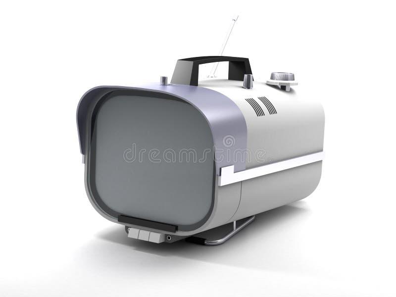 Stilvolle Retro- Fernsehsechziger stock abbildung