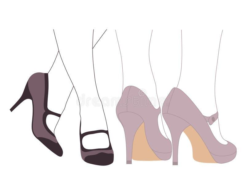 Download Stilvolle Schuhe vektor abbildung. Illustration von abbildung - 27729998