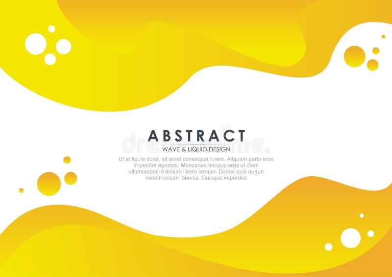 Stilvolle und bunte abstrakte Fl?ssigkeit - Wellenentwurf stock abbildung