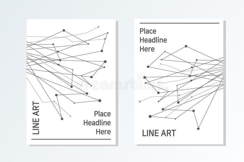Stilvolle und moderne Art des Geschäftsbroschüren-Designs lizenzfreie abbildung