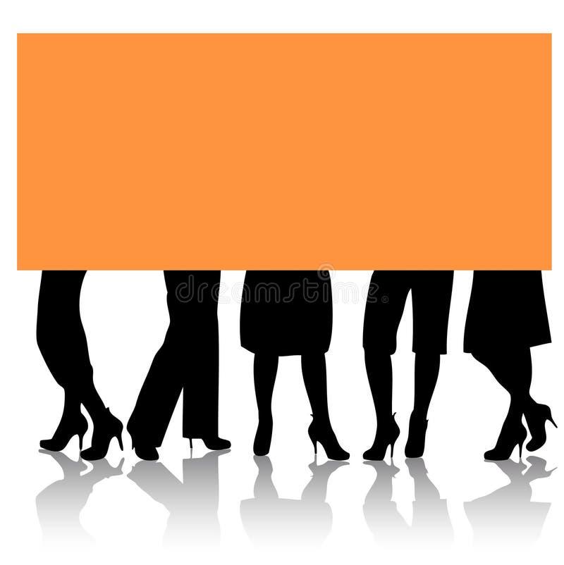Stilvolle weibliche Fahrwerkbeine stock abbildung