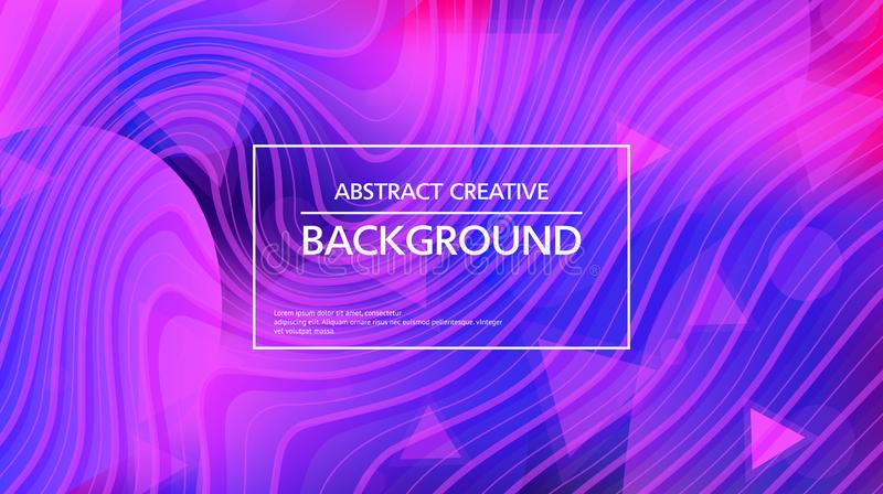 Stilvoller abstrakter Hintergrund in den klaren Farben lizenzfreie abbildung